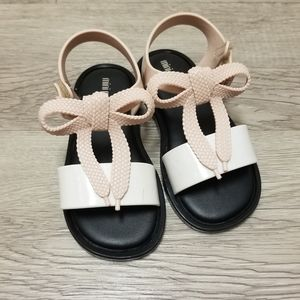 Mini Melissa Mar Shoelace Bow T-Strap Snadal